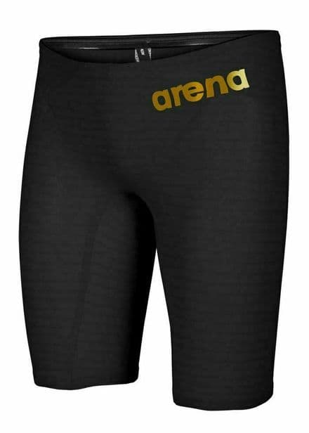 """Arena Swimming Carbon Air² Jammer - Black Gold Uk 26"""" only"""
